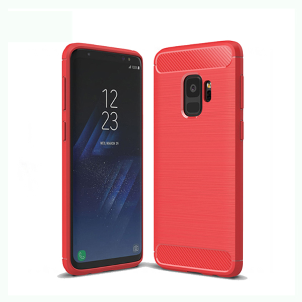 Brushed Carbon Fiber Case Cover for Samsung Galaxy S9 case