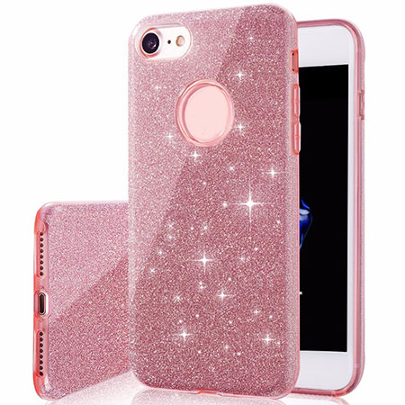 3+1 Layers Bling TPU+PC phone Case For iPhone 7
