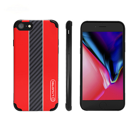 Hot Shell Carbon Fiber TPU  Phone Case For iPhone 8