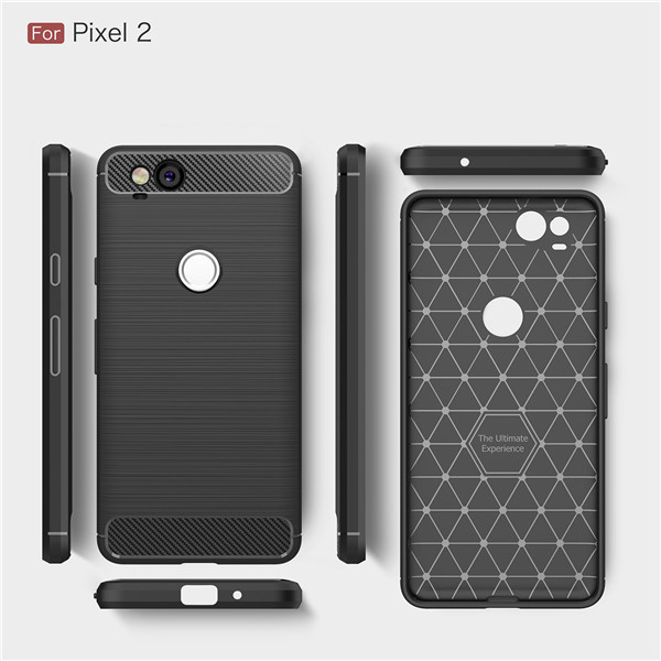 Brush Carbon Fiber TPU Case For Google Pixel 2