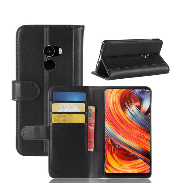 Magnetic Smart Flip Pu Folio Case For Xiaomi mix 2