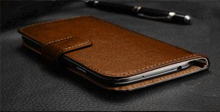 5.5 inch Genuine  Leather Flip Wallet Case  for IPhone 6 Plus
