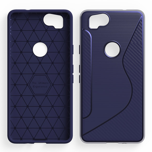 Carbon Fiber Rugged Case S Line Silicone TPU Phone