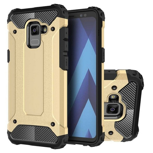 Hybric Armor Hard PC Back Cover TPU Bumper Case for Samsung Galaxy A8 2018 Case