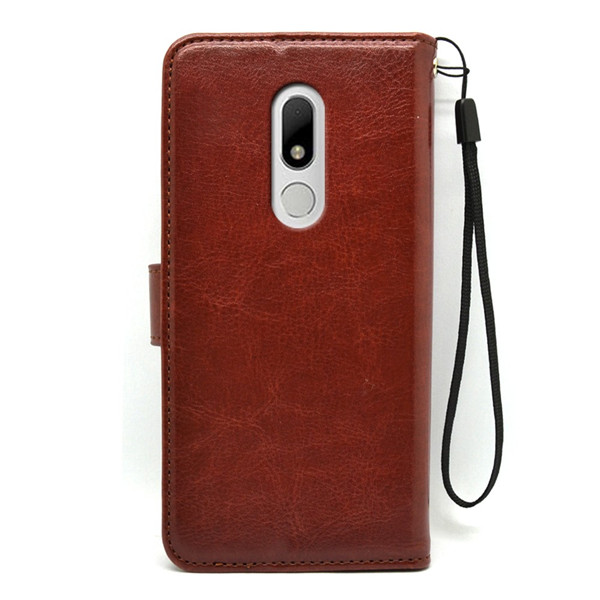 Moto M Luxury PU Leather Mobile Phone Wallet Case
