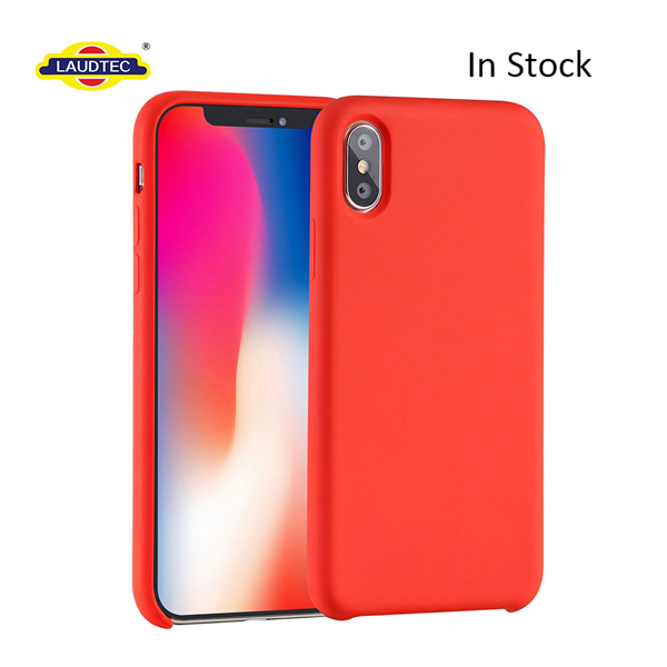Custom liquid Silicone Shockproof Mobile Accessories  For Iphone X 10 Case