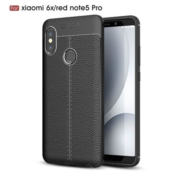 Leather Pattern TPU Case For Xiaomi 6X/Redmi Note5 Pro