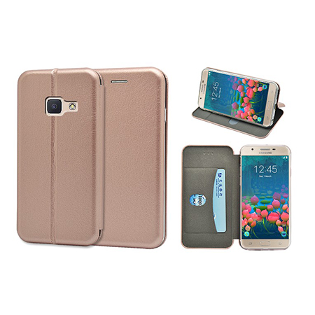 New arrival full curved leather wallet case for Samsung galaxy j5 prime