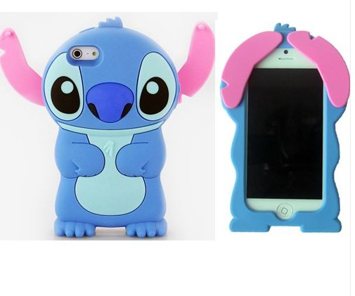 3D Cute Movable Ear Silicone Case For iPhone 5