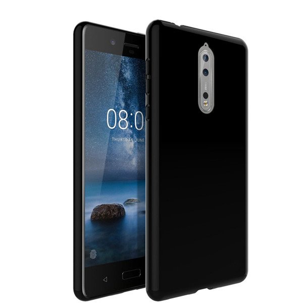 Nokia 8 Clear Solid Black Silicone Case