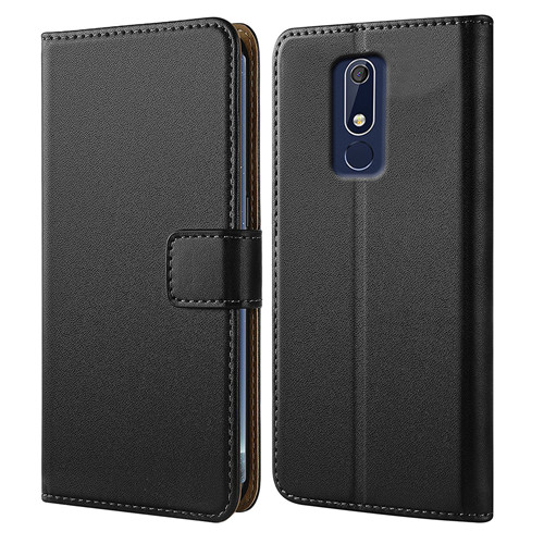 Premium Leather Walleet Case For Nokia 5.1