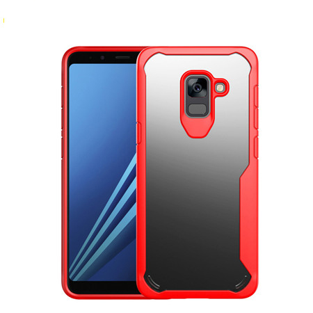 New model case hybrid transparent tpu+pc cover for Samsung A8 2018