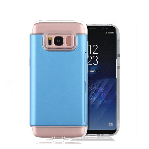 Crystal card slot TPU+ PC back cover case for Samsung note 8