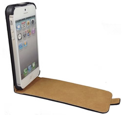 iPhone 5 Ultra Slim Leather Flip Case Cover