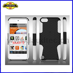 iPod Touch 5 Combo Rubberized Mesh Case Cover