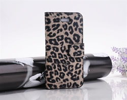 Leopard Flip PU Leather Case cover for iPhone5
