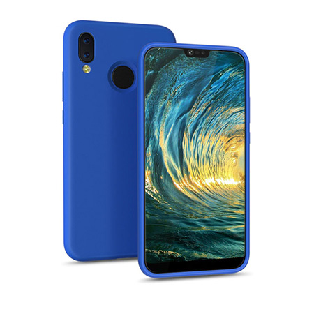 Full protective liquid silicone case for Huawei P20 Lite