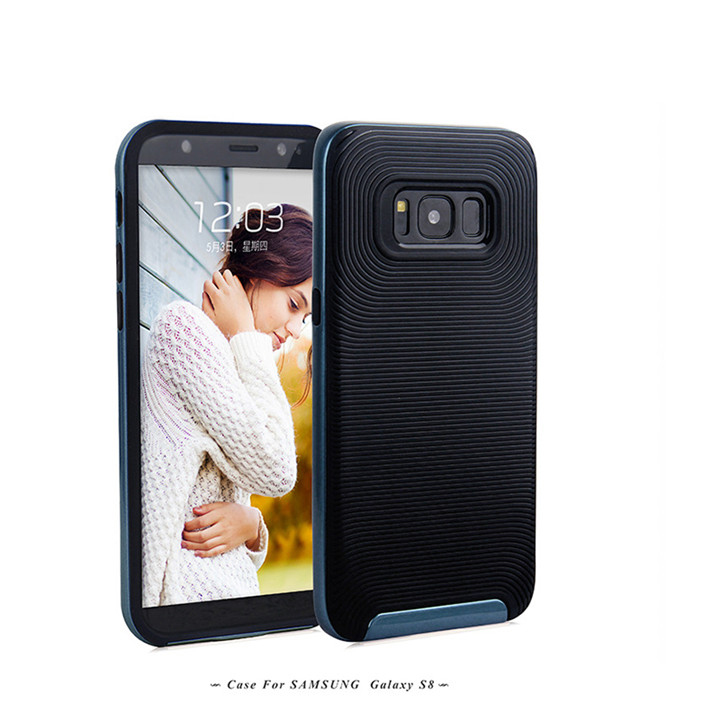 PC+TPU anti slip shockproof cover case for Samsung S8