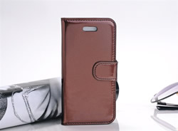 Flip Folio PU Leather Wallet Case Cover Skin Pouch for Apple iPhone 5