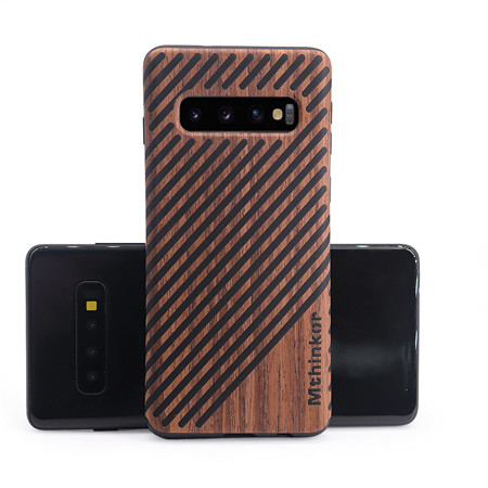 Creative wood - grain mobile phone case for the samsung S10
